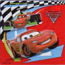 Serviette papier Cars2 et Martin de 33 cm X 33 cm 2 plis