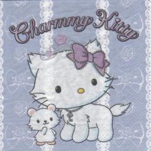 Serviette Charmmy Kitty 33 cm X 33 cm 2 plis