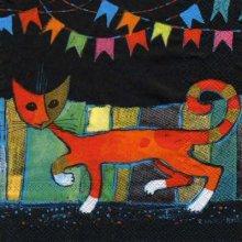 Serviette papier motif chat déco 33 cm X 33 cm 3 plis