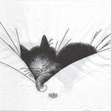 Serviette papier chats dormeur 33 cm X 33 cm 3 plis