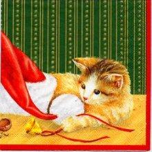 Serviette papier chat et bonnet 33cm X 33 cm 3 plis
