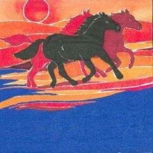 Serviette papier motif chevaux sauvages 33 cm X 33 cm 3 plis