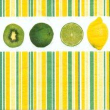 Serviette papier motif citrons vert 33 cm X 33 cm 3 plis