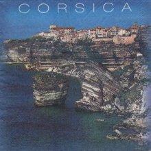 Serviette papier Corse et Bastia 33 cm X 33 cm 3 plis