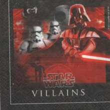 Serviette Star Wars Dark Vador de 33 cm X 33 cm 2 plis
