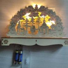 Déco Noël paysage hiver avec lumière