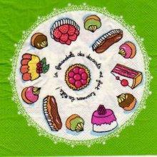 Serviette papier Dessert sucré de 33 cm X 33 cm