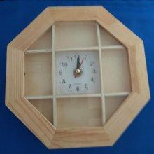 Horloge en bois à compartiment 200 mm x 200 mm
