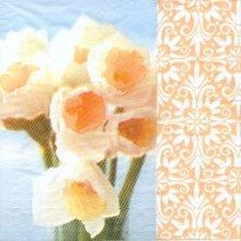 Serviette papier fleurs jonquilles 33 cm X 33 cm 3 plis