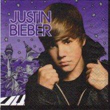 Serviette papier Justin Bieber 33 cm X 33 cm 2 plis