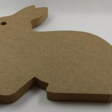 Lapin MDF à peindre 140 mm x 160 mm