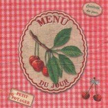 Serviette papier Menu du jour de 33 cm X 33 cm 3 plis
