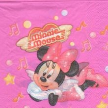 Serviette papier Minnie music  33 cm X 33 cm