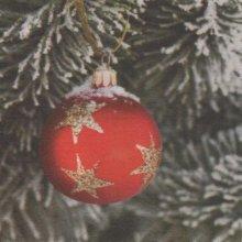 Serviette papier Noël et Boule étoilé 38 cm X 38 cm 3 plis