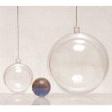 Boules transparentes Noël 8 cm x 3