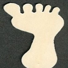 Support bois pied bèbè en bois à peindre 80 mm x 35mm