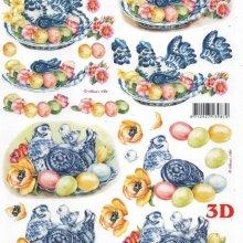 Feuilles 3D poule et Paques
