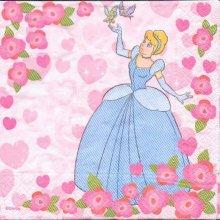 Serviette papier motif princesse de 33 cm X 33 cm 3 plis