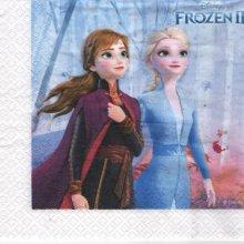 Serviette Reine des neige 2 de 33 cm X 33 cm 3 plis