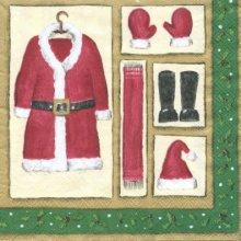 Serviette papier Habit de Père Noël 33 cm X 33 cm 3 plis