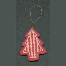 Sapin de Noël en bois rouge et or