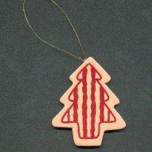 Sapin de Noël en bois rouge et rose
