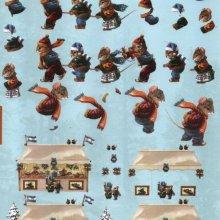 Feuilles 3D famille petite souris