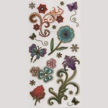 Sticker fleurs et étoile