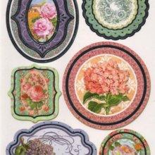 Stickers roses et fleurs lot de 6 pièces