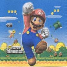 Serviette papier Super MarioBros de 33 cm X 33 cm 2 plis