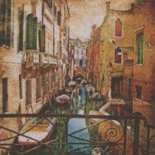 Serviette papier Venise et canaux 33 cm X 33 cm 3 plis