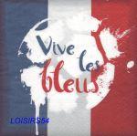 Serviette papier Les Bleus - 33 cm x 33 cm