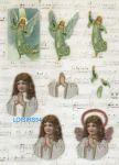 Feuille 3D prédécoupée ange et fillette