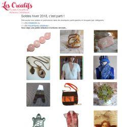 newsletter Soldes 2018 les-creatifs