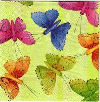 serviette papillons