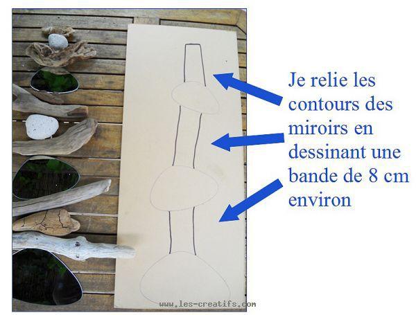 un cadre photo ou miroir en bois flott. Black Bedroom Furniture Sets. Home Design Ideas