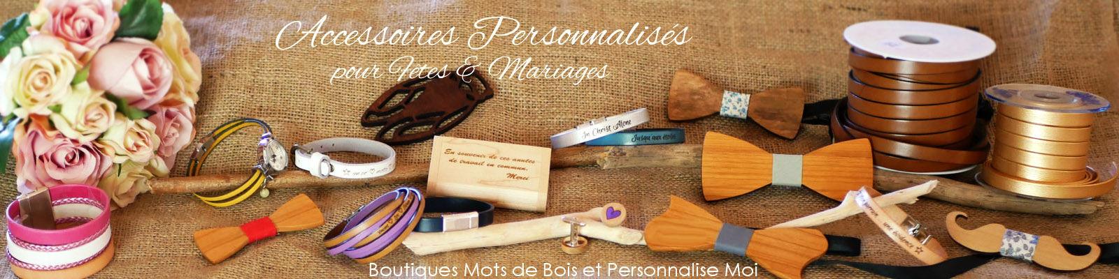 accessoires personnalisés fetes et mariages
