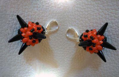 Tutoriel gratuit pour boucles d 39 oreilles halloween - Fabriquer araignee pour halloween ...