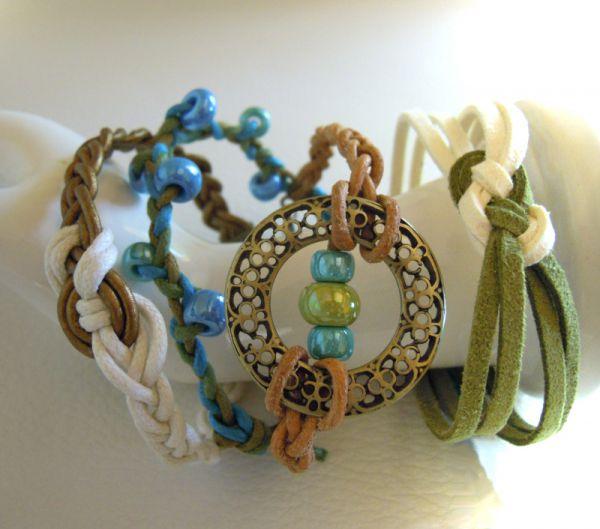 Bracelets en cuir tress faire soi mme - Faire des bijoux fantaisie soi meme ...