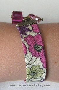 Bracelet Liberty coloris fuchsia