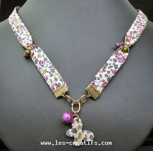 Collier en biais Liberty fillette