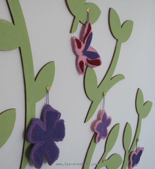 D cors en feutrine pour arbre mural for Decoration murale arbre