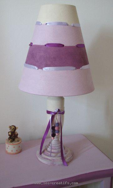 Lampe de chevet relook e pour une fille - Fabriquer une lampe de chevet en bois ...