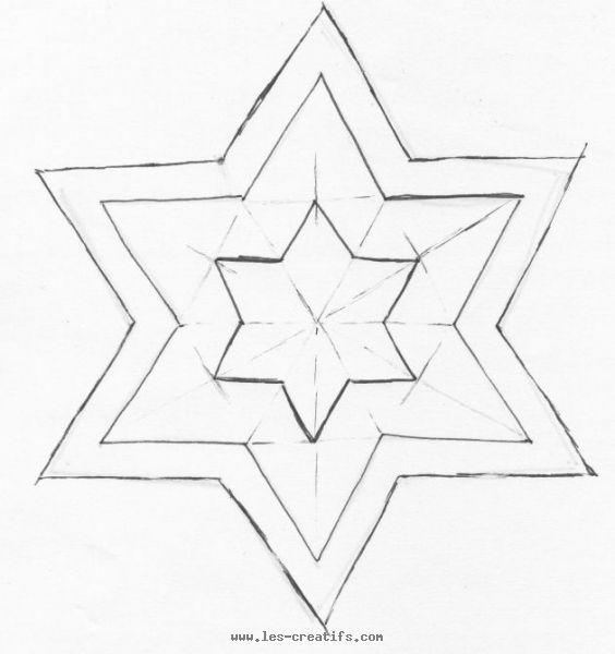 Bevorzugt de découpe de l'étoile en feutrine GV12