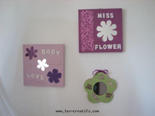Cadre Chambre Fille. Tableau Enfant Affiche Encadre Faon Et Fleurs