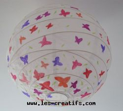 Lustre pour enfant en papier d cor for Lustre boule papier