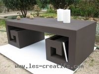 Fabriquer une table basse en carton for Fabriquer meuble japonais