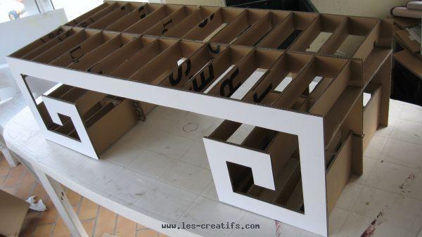 Fabriquer L'Ossature Du Meuble En Carton