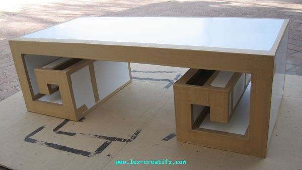 Meuble en carton en fabrication - Fabrication de table basse ...