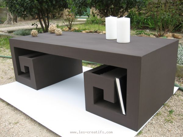 table basse en carton. Black Bedroom Furniture Sets. Home Design Ideas